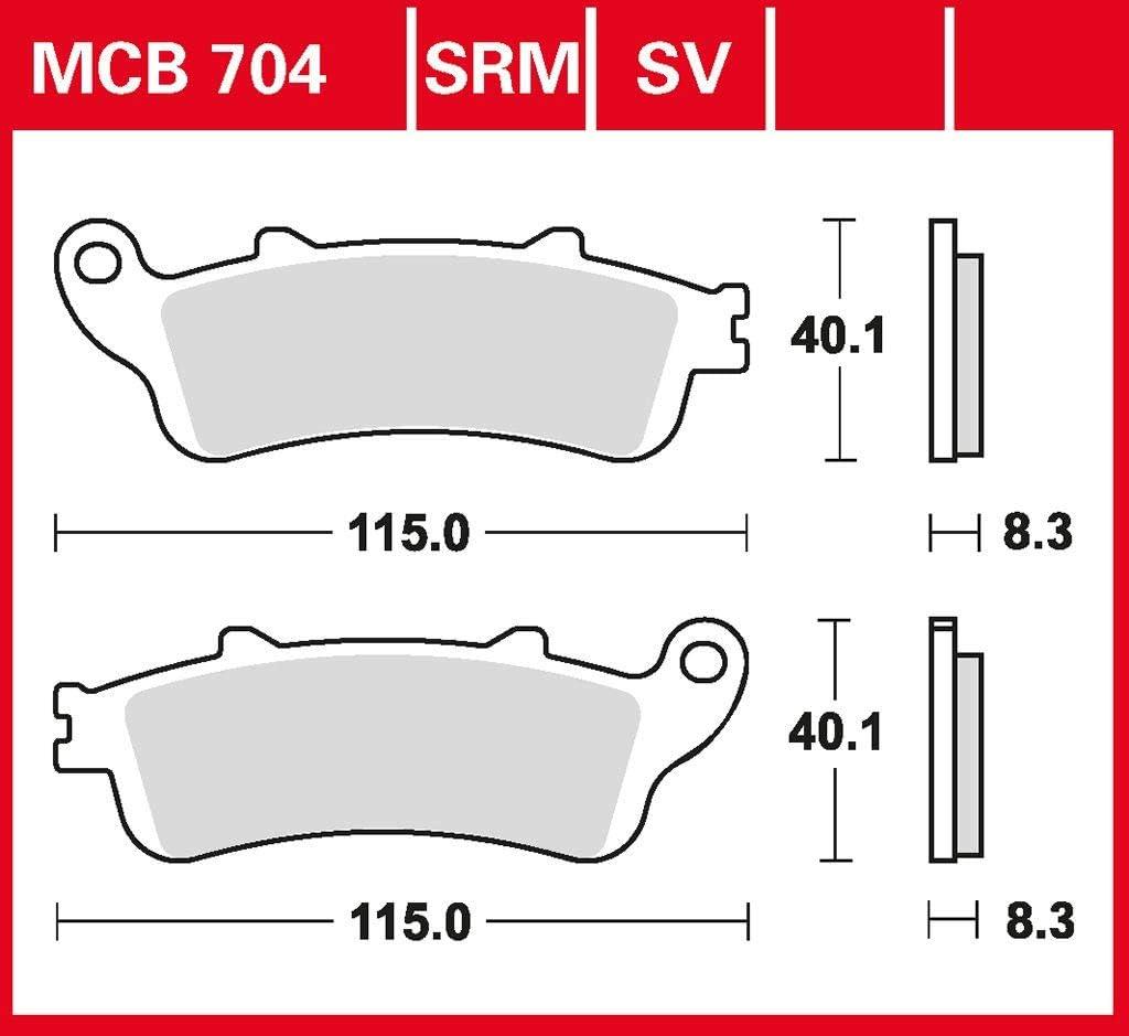 Bremsbelag TRW organischer Allround-Bremsbelag CBR 1100 XX Blackbird SC35 01-02 vorne