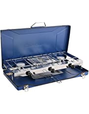 Campingaz Chef Folding Double Burner Stove and Grill, Blue