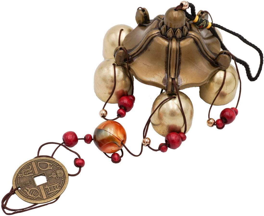Banfeng Lucky Wind Chimes Feng Shui Bell Toy for Good Luck Home Garden Hanging Decoration Gift (5 Bells)
