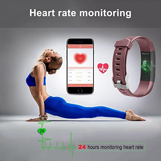 Amazon.com: Bluetooth Smart Watch with Heart Rate/Sleep Monitor Sports Fitness Tracker Watch Smart Band Pedometer Wristband/Bracelet Calorie Counter for iOS ...