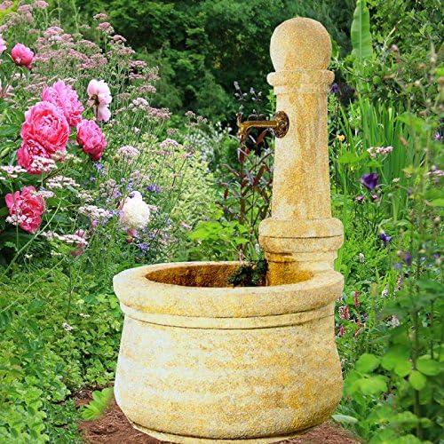 Jardín Piedra de ensueño Jardín Fuente con bomba – Provencal: Amazon.es: Jardín
