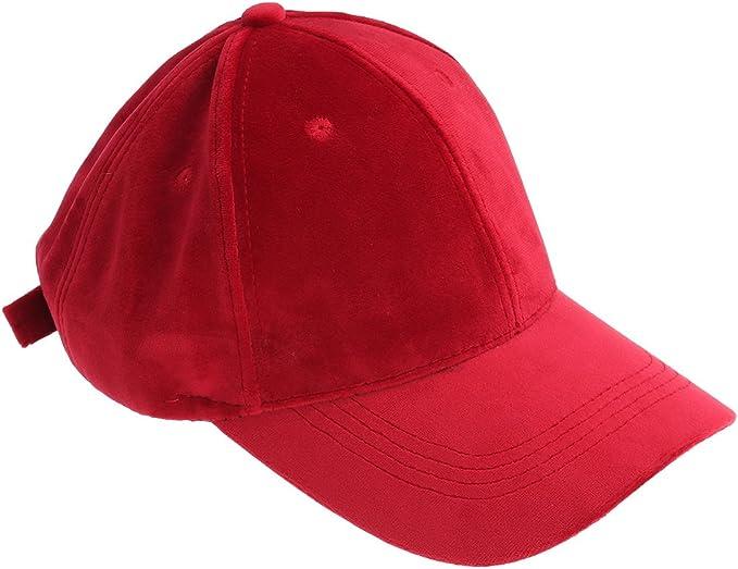 OULII Gorra de béisbol de Terciopelo Unisex Sombrero de Visera ...