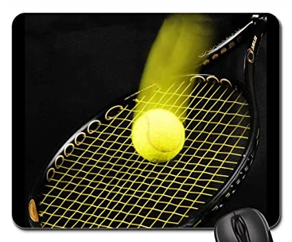 Amazon Com Mouse Pad Tennis Racket Ball Tennis Ball Background