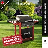 BillyOh Acorn Hooded 2 Burner Gas BBQ Grill with Free Propane Regulator