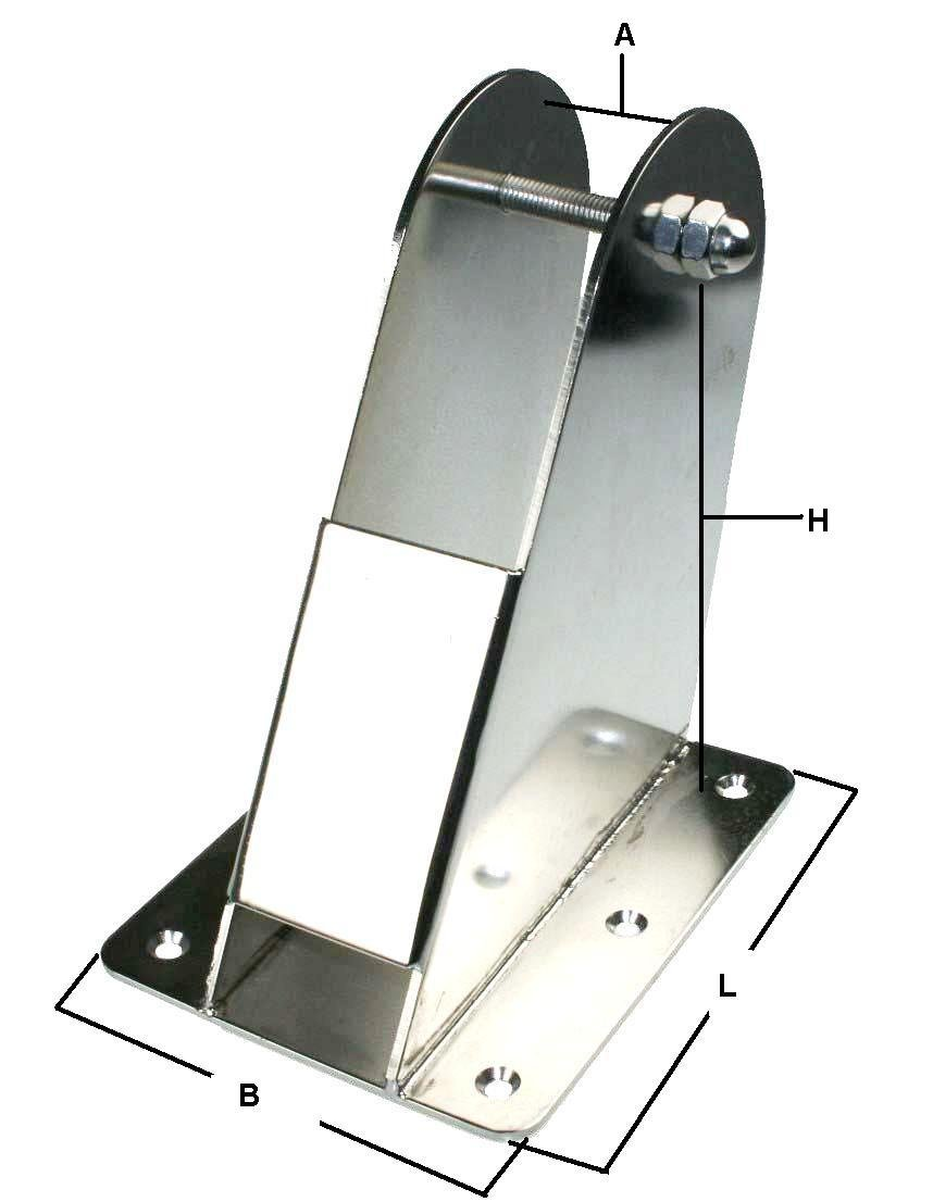 Gurtschnalle  Edelstahl 50mm  ARBO-INOX