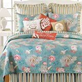 C&F Home 89965.8686 Santa Catalina for Q Quilt, Full/Queen, Blue