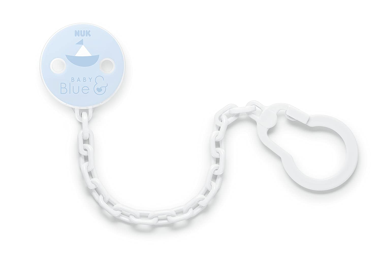 NUK 10256457 Baby Blue Cadena para chupete, con clip ...