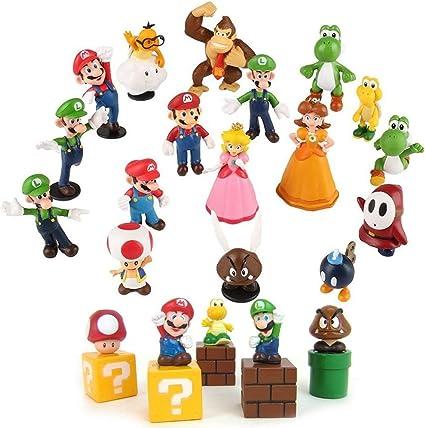 Super Mario Bros Figures Toys 5cm 5 Pcs Set Blocks Action Characters