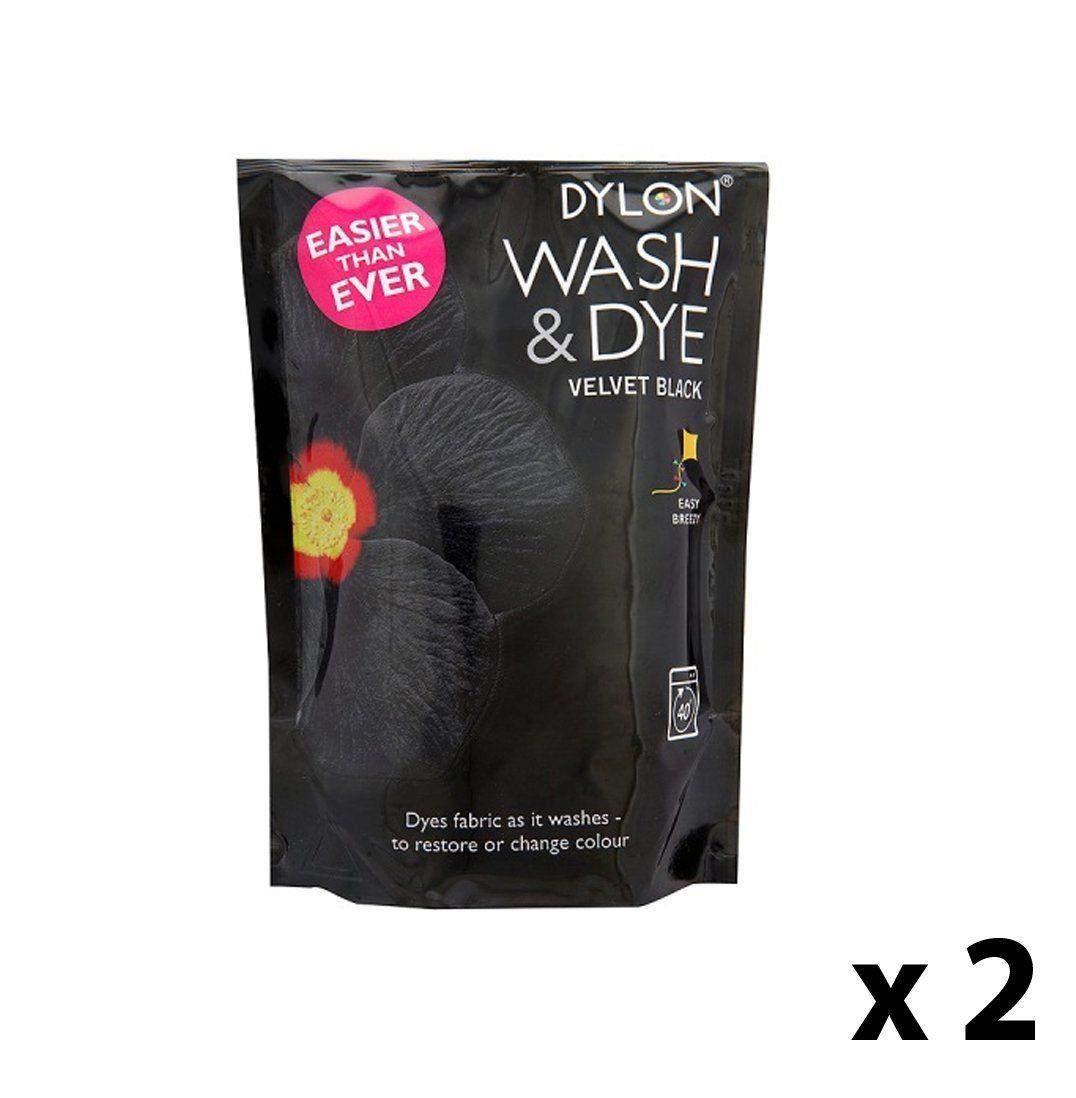 Dylon Machine Wash & Dye, Velvet Black 7400410101x1 (pack of 2) 7400410101x1 pack of 2
