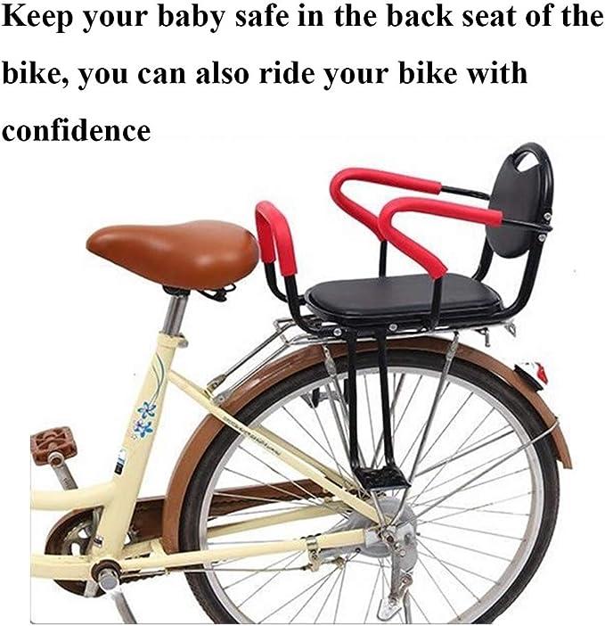 Sillín de Seguridad para niños en Bicicleta Asiento Trasero para niños-Universal Asiento de Seguridad para Bicicleta-Porta-sillín con Pedales: Amazon.es: Deportes y aire libre