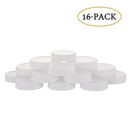 Amazoncom Airtight Aozita 16 Pack Plastic Mason Jar Lids With