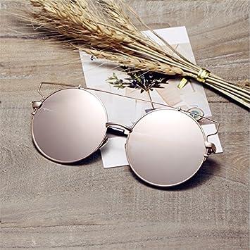 Sunyan Sonnenbrillen, Sonnenbrillen, Sonnenbrille, Sonnenbrillen, Koreanische Version 2018, Silber, weisser Film