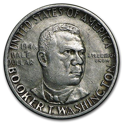 1946 - 1951 P, D or S Booker T. Washington Half Avg Circ Silver Very Good