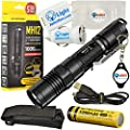 BUNDLE: Nitecore MH12 CREE XM-L2 U2 LED Rechargeable Flashlight 1000 Lumens w/ 1x USB Wall Charger Plug, 1x USB Car charger Plug,, 1x 18650 3200mAh Li-ion Rechargeable battery, 1x battery case and 1x Lightjunction Keychain Light