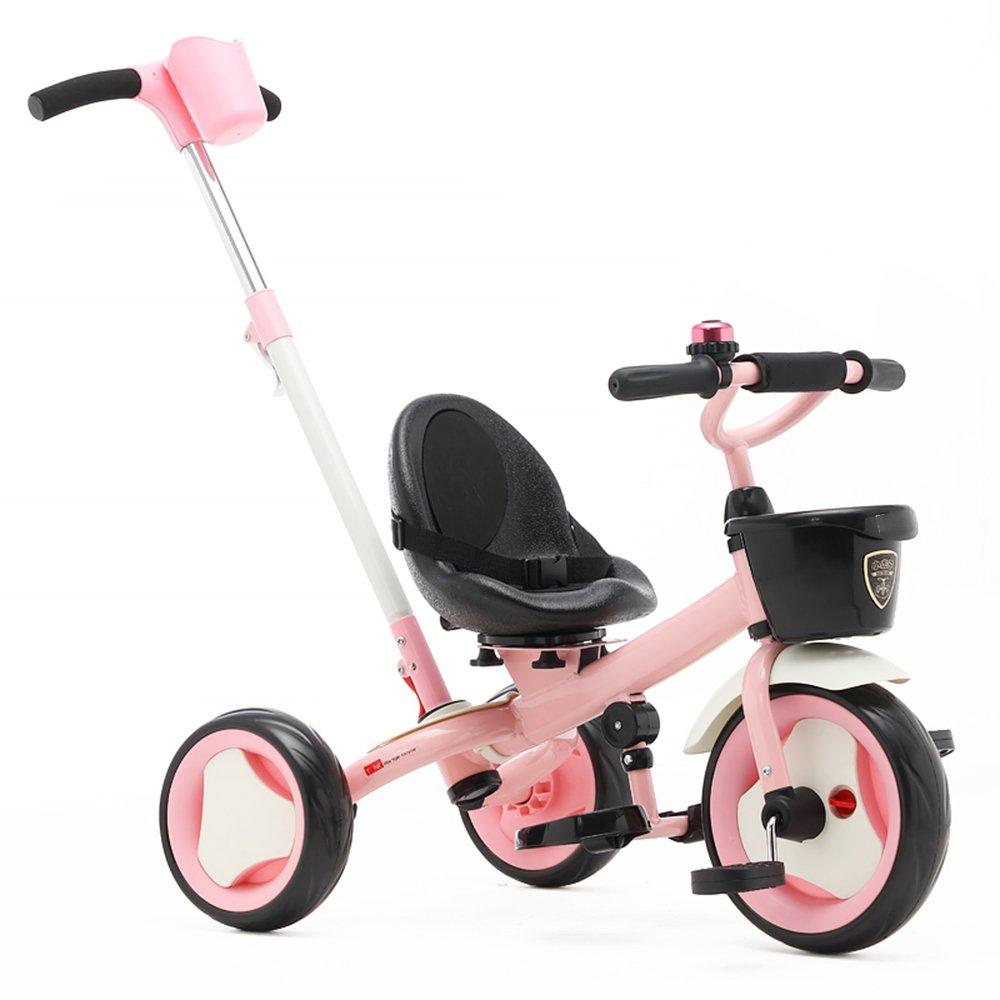 HAIZHEN マウンテンバイク Trike子供3輪キッズ三輪車ボーイズとガールズ3ウィーラー 新生児 B07C6R96X2 ピンク ぴんく ピンク ぴんく