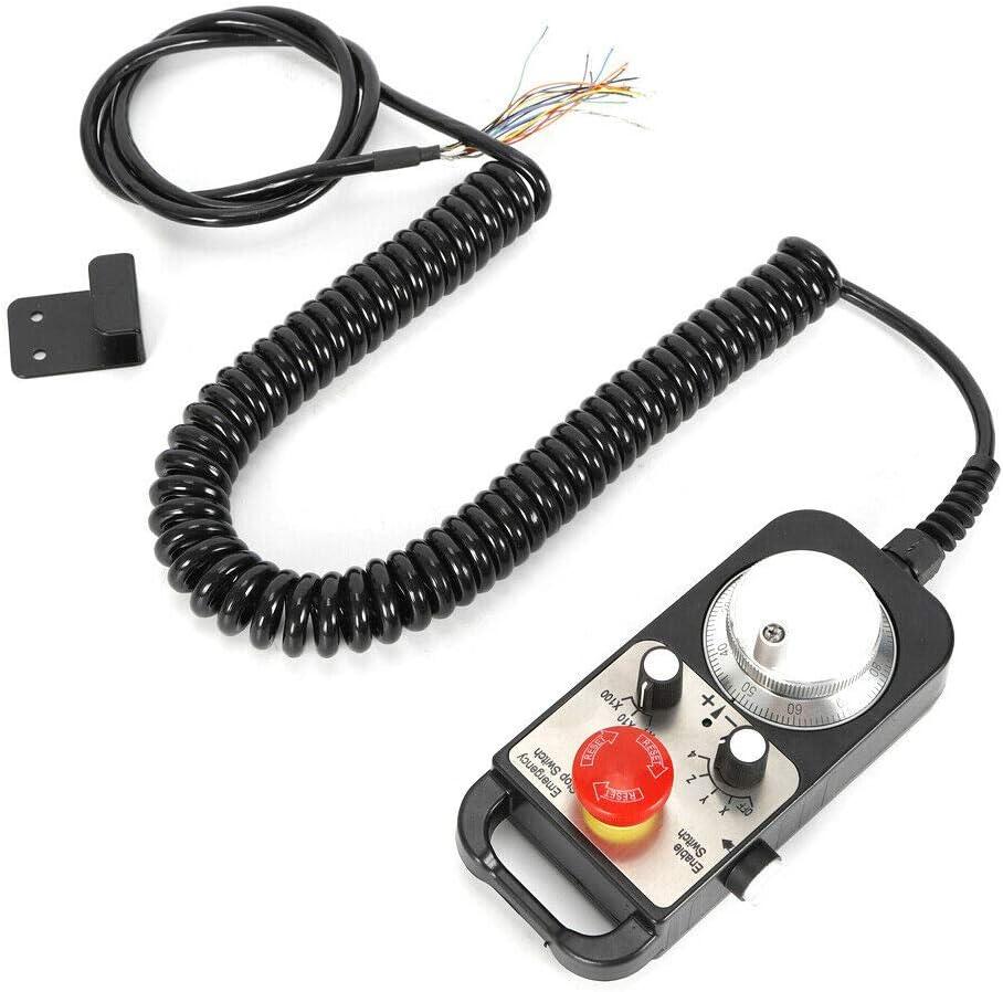 Kit de husillo de fresado universal de 5 V CNC de 4 ejes MPG y apagado de emergencia para fresadora CNC para CNC Mac Mach3/4 ejes