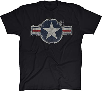 64c9681c Amazon.com: Trunk Candy Mens Vintage United States Air Force Logo Cotton T- Shirt: Clothing
