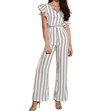Overall Mujer Largos Moda Vintage Flecos Traje Pantalón ...