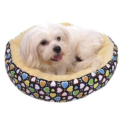 TAONMEISU taonmeisutm Suave Redondo Lavable Mascota Cachorro Perro Gato Warm Bed Cojín de Lunares diseño Mascota