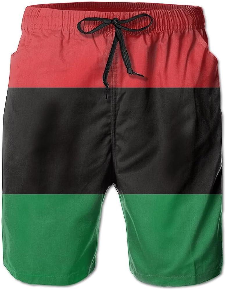 Qpkia Black Lives Matter Flag African American Flag Men Water Sports Beach Pants Pocket