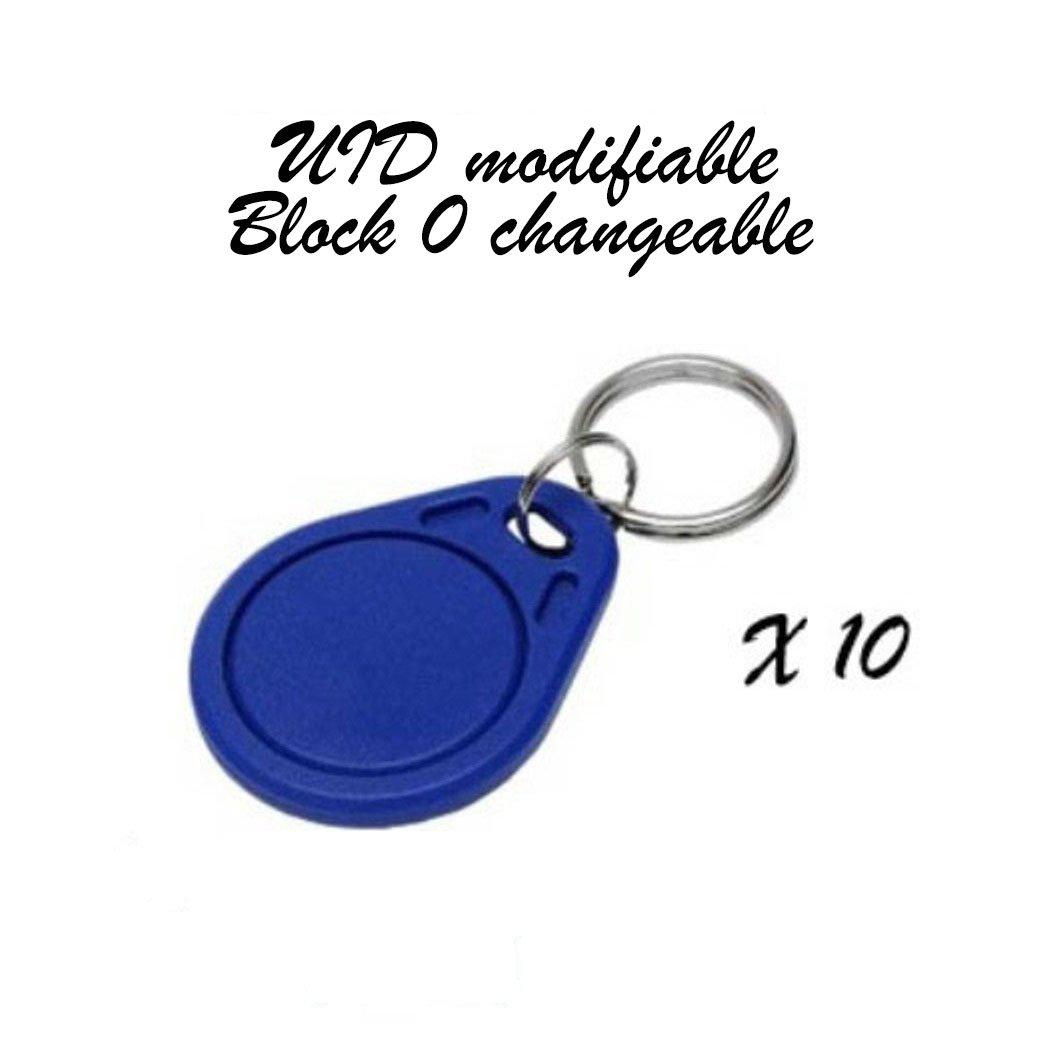 Lotto di 10/distintivi RFID Mif 1/K 13.56/MHz//–/Uid modificabili bloc 0/Changeable