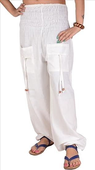 edd646d52e3 Crema y Faldas Mujer con LoungeYoga algodón Pantalones Skirts amp  Amarillo  Bufandas Scarves Bolsillos qf77wg
