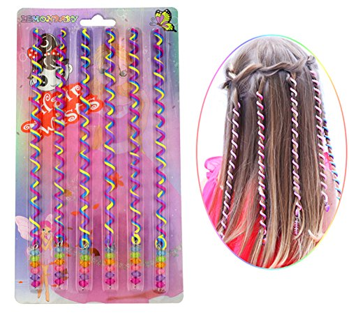 LEMONBABY Funny Party Costume Hair Twists Accessories Hair Wrap (RAINBOW)
