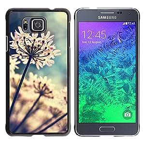 For Samsung GALAXY ALPHA G850 Case , Garden Flowers Blossoming Sun - Diseño Patrón Teléfono Caso Cubierta Case Bumper Duro Protección Case Cover Funda