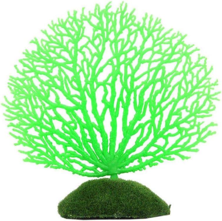 Forma Precioso Color Coral decoración del árbol de Coral Artificiales de Resina de los Ornamentos, Verde, S