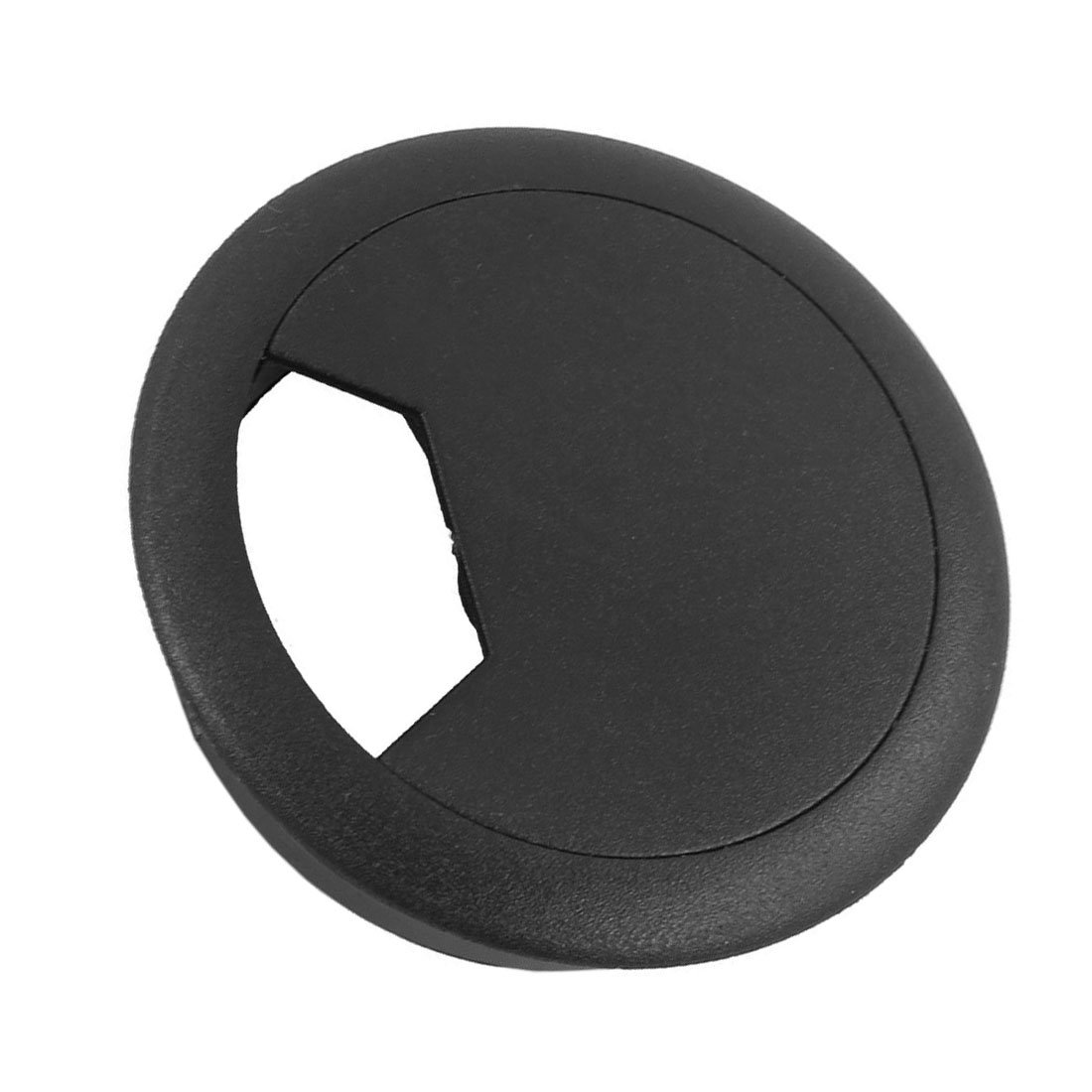 SODIAL(R) Hole Cover 2 Pcs 50mm Diameter Desk Wire Cord Cable Grommets Hole Cover Black by SODIAL(R) (Image #2)
