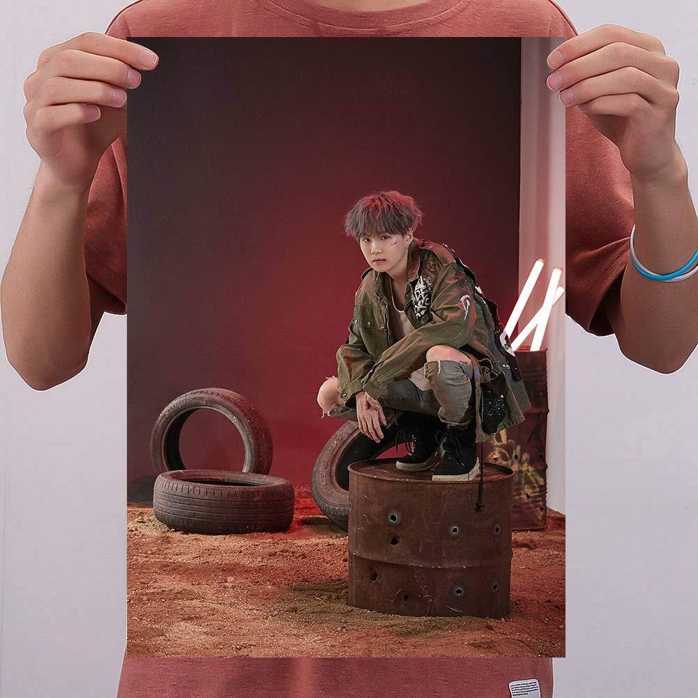 GOTH Perhk KPOP BTS Poster Bangtan Boys Affiche Officiel Soutenu pour BTS Fans Collection 7PCS