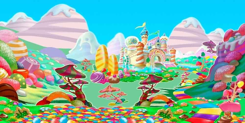 GladsBuy candy family 20' x 10' Computer Printed Photography Backdrop Other Theme Background ACP-502