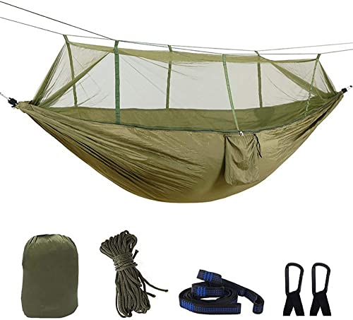 Just Relax Double Portable Lightweight Camping Hammock, 10.6×6.6 Feet Green-Grey