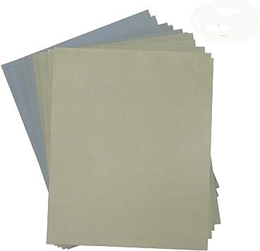 12pcs//set Wet Dry Sandpaper 1500-7000 Grit Silicon Carbide Abrasive Paper Kit