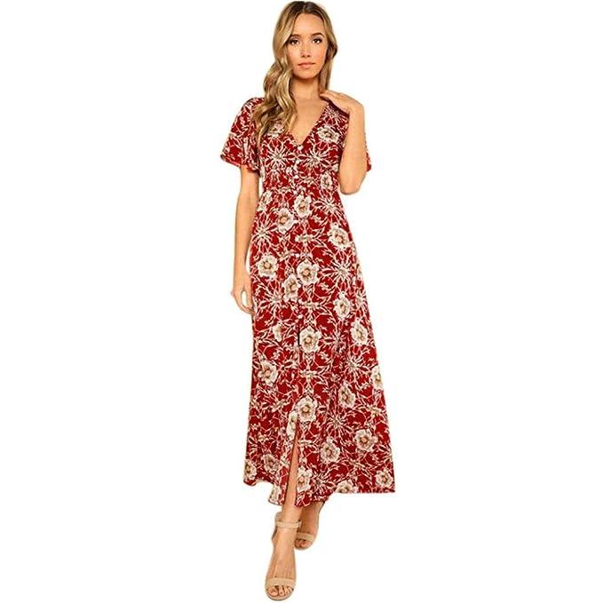 Jaminy Strand Sommer Sommerkleid Maxikleid Jersey Kleid Wickeloptik