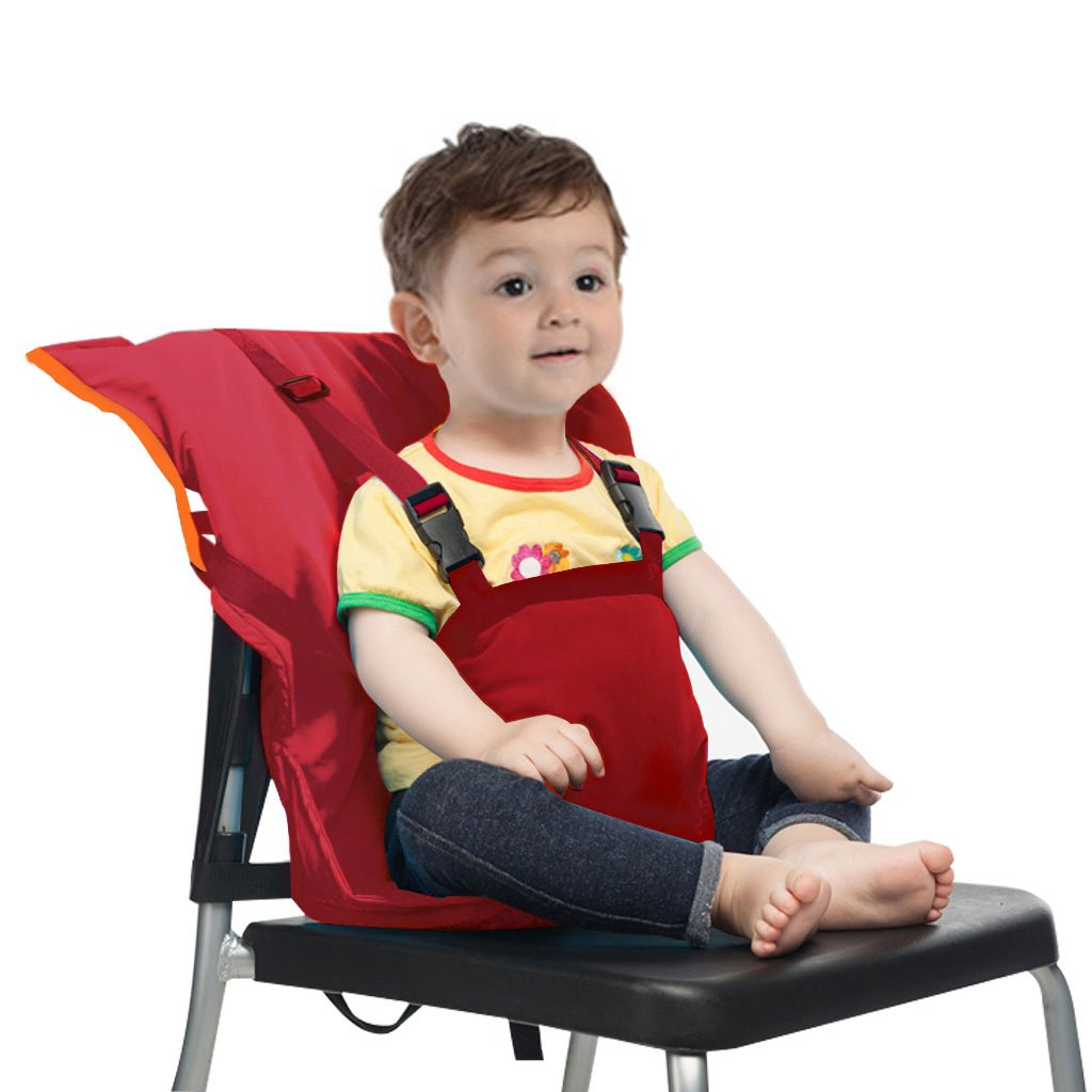 Baby Travel Seats Cover Toddler Highchair Safety Harness Portable Infant Sack Strap,Red
