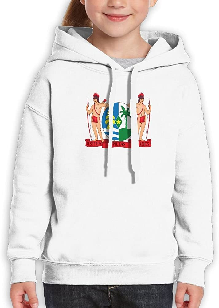 DTMN7 Coat Of Arms Of Suriname New Printed O-Neck Blouses For Teen Girl Spring Autumn Winter