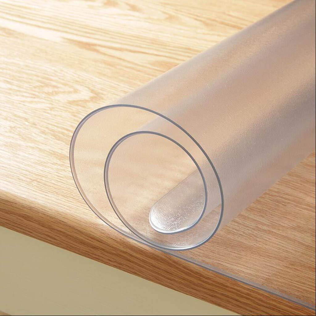 HHCQY PVC-Wasserdichte Einseitige Matte Tischmatte, Weiches Glas Verdickte Kaffeetischmatte Wegwerfbares ÖlBesteändiges Rechteckiges Pad Stärke 1.6MM B07H4SLSJK Tischdecken Haltbarkeit  | Erste in seiner Klasse