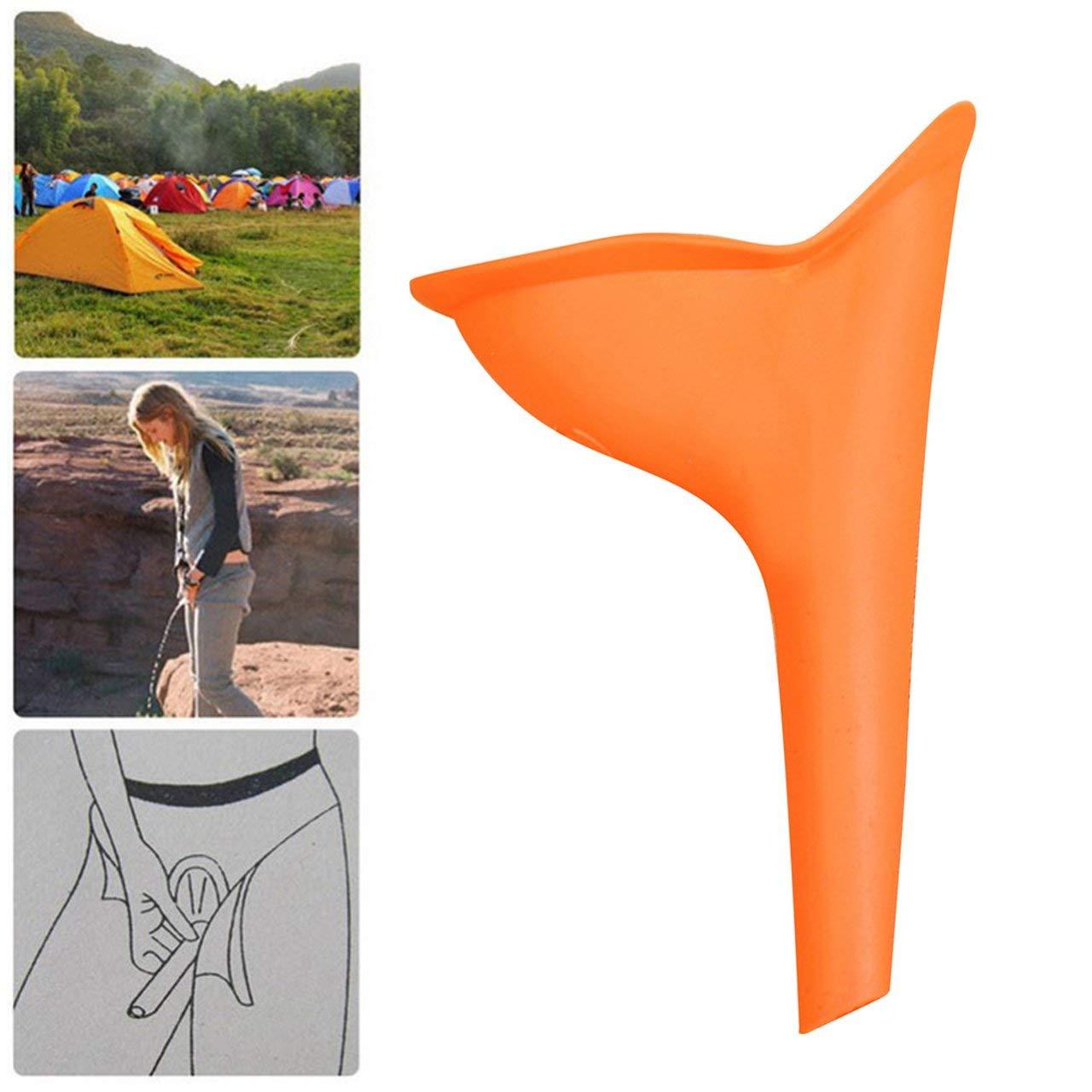 ESjasnyfall Naranja Urinarios port/átiles de Emergencia para Mujeres Urinario Permanente de Emergencia de Campo para Viajes al Aire Libre