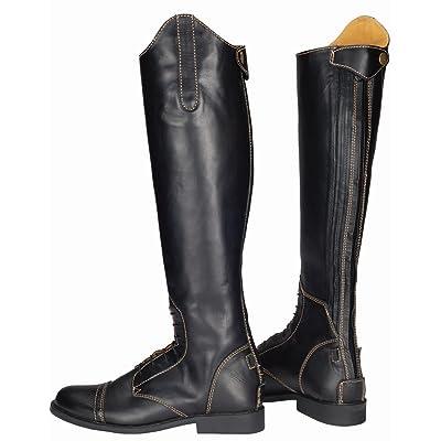 tuffrider Femme Natasha en cuir champ Bottes, noir/marron clair, 105Large