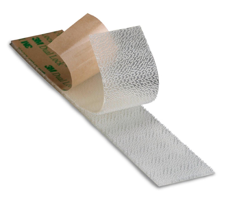3 M SJ 4570 - Dual Lock, sistema de sujeció n retrá ctil, velcro adhesivo transparente, soporte de polipropileno y adhesivo acrí lico, ideal para el uso en exteriores e interiores para fijació n de paneles de techo, alfombras, c