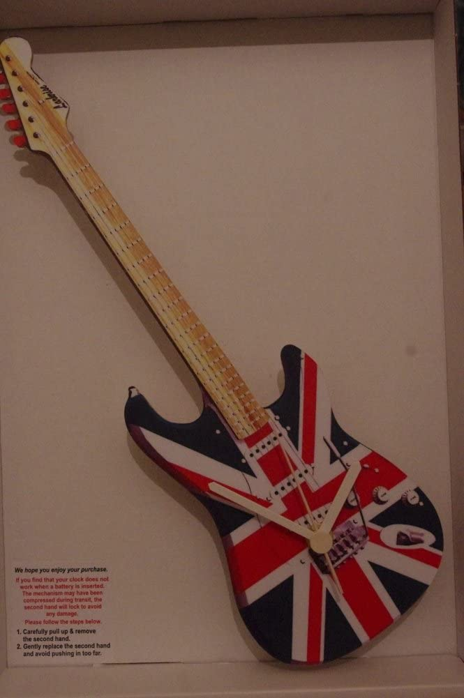 Union Jack Guitarra de la novedad reloj de pared de madera British ...