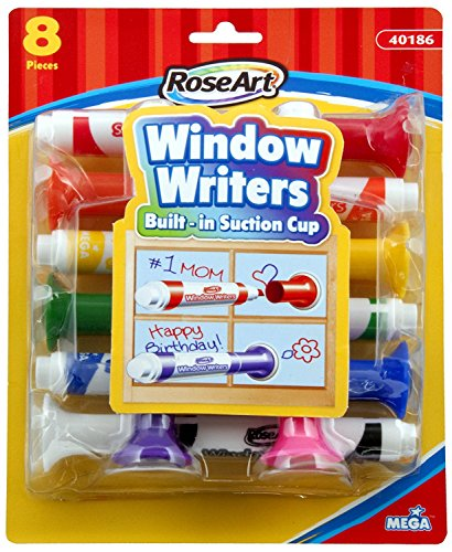 (RoseArt Window Writers, 8 Markers per Pack, Assorted Colors (CYB56))