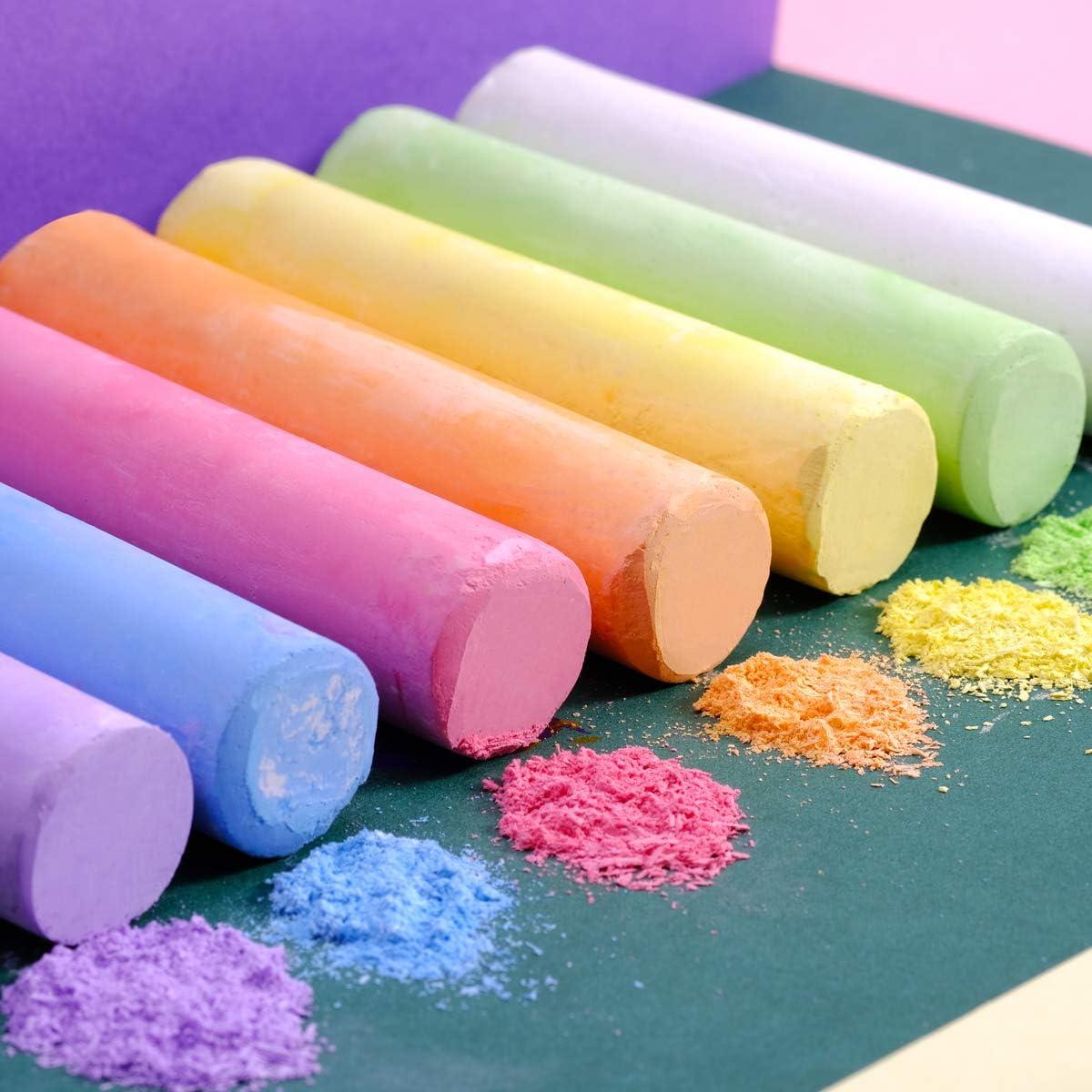 TBC The Best Crafts 6 Farben Kinderkreide wassl/öslich Kreide Neon Stra/ßenkreide f/ür Kinder M/ädchen Junge
