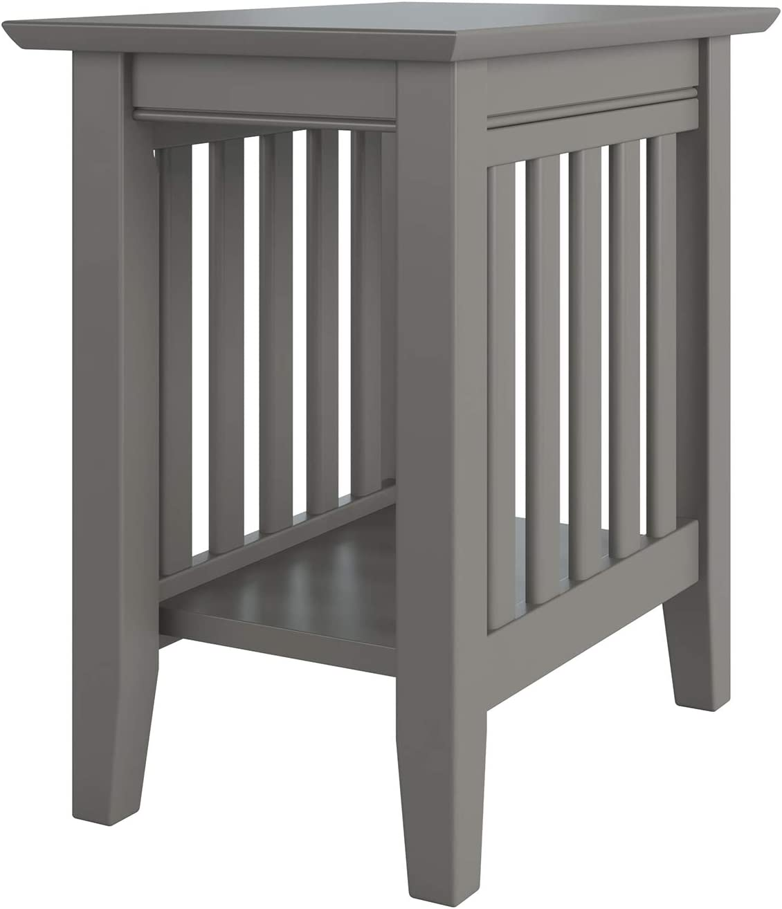 Atlantic Furniture Mission Chair Side Table, Grey