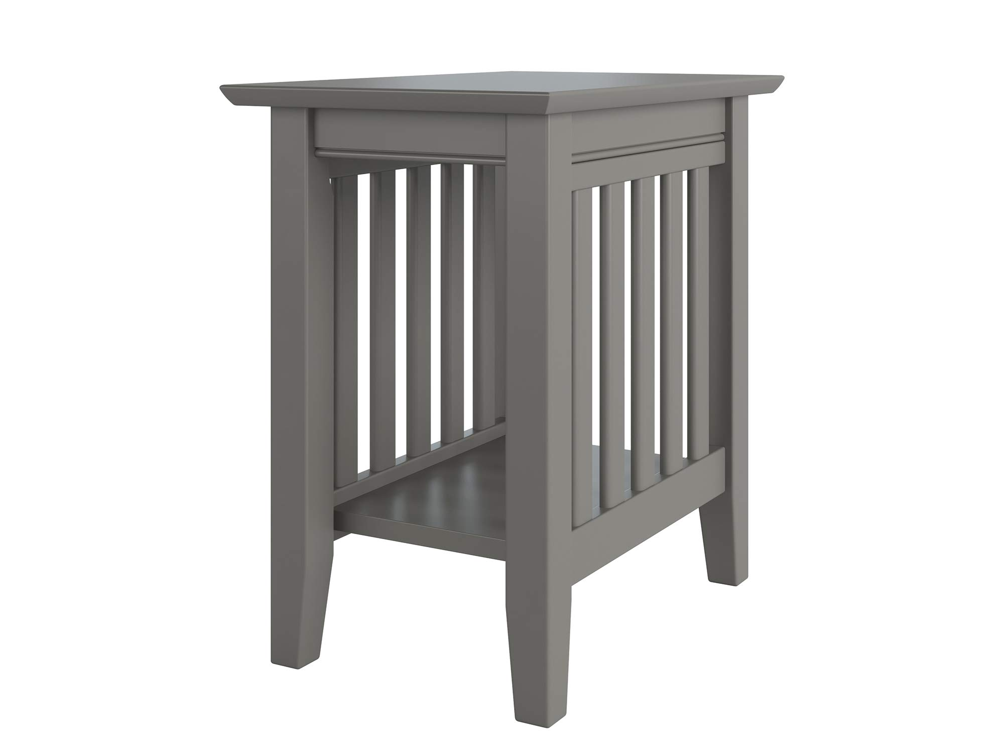 Atlantic Furniture AH13209 Mission Chair Side Table, Grey by Atlantic Furniture