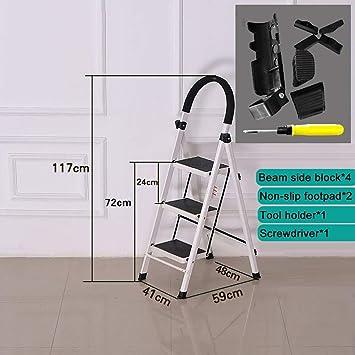 XQY Taburete de peldaño doméstico, Taburete de escalón plegable para fotografía, Taburetes de escalón Taburete de peldaño plegable para adulto, Escalera de 3 escalones blanca de seguridad para cocina: Amazon.es: Bricolaje y