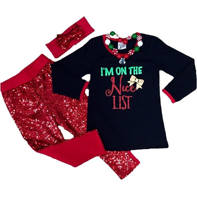 Amazon.com: Cute Kids ropa bebé niña Navidad outfiton la ...