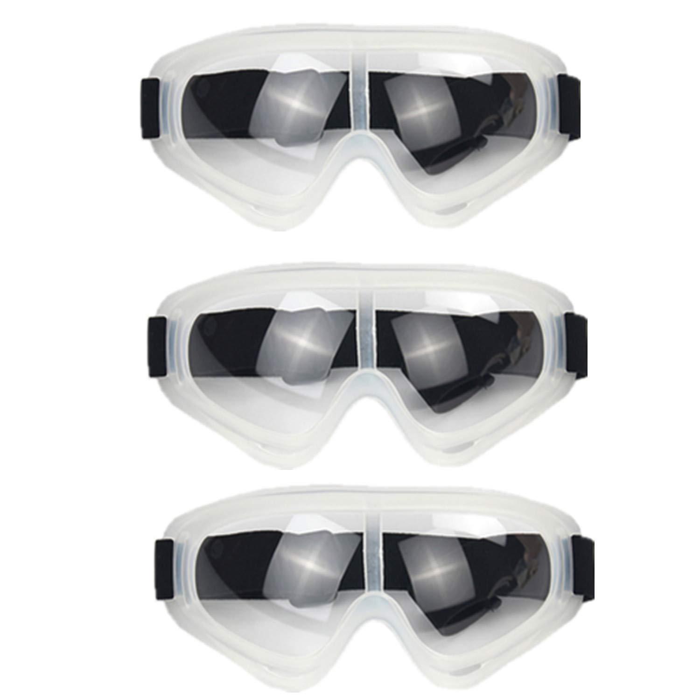 HONGCI Juego de 3 gafas de seguridad,antivaho y protección UV,gafas de protección de seguridad, para niños Nerf Gun Batallas, construcción,bricolaje,laboratorio,soldadura,química,uso personal