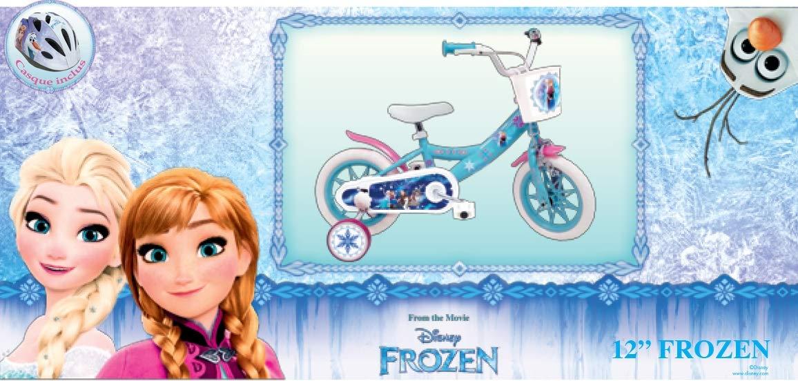 Frozen Disney Velo 12 Reine des NEIGES 2 /à 4 Ans avec 2 Freins /& Porte Poup/ée